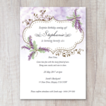 Secret Garden: Wisteria Surprise Party Invitation